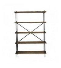 Etagère 5 niveaux en bois et métal