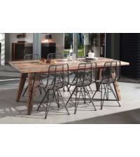 Table de repas 2m20 ORSENA en mélange de bois recyclés - CASITA