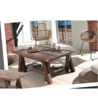 Table basse LEO en mélange de bois recyclés - CASITA
