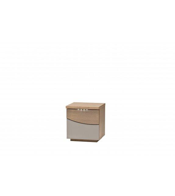 Table de chevet 2 tiroirs en chêne laqué ARGILE - BRESILIA